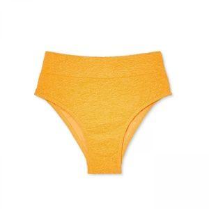 NWT Xhilaration High Bikini Bottom Medium Marigold